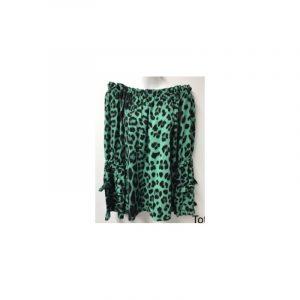 Blouse leopard print groen