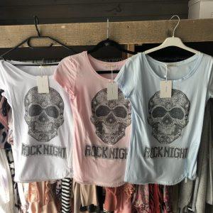 Shirtjes doodshoofd, diverse kleuren